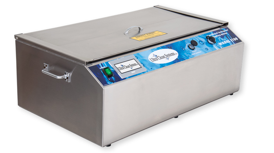 Ultra Clean Systems Model 1100 ultrasonic cleaning system, left side closed