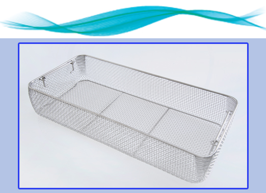 The wire mesh tray for the Triton series machines allows for easy cleaning of standard hospital instruments.
