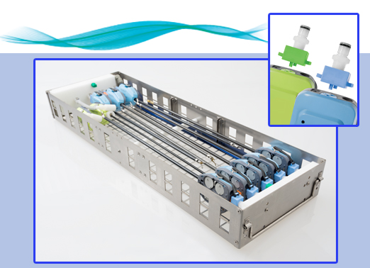 da Vinci® S, Si, and Single-Site tray with 10 dedicated ports.