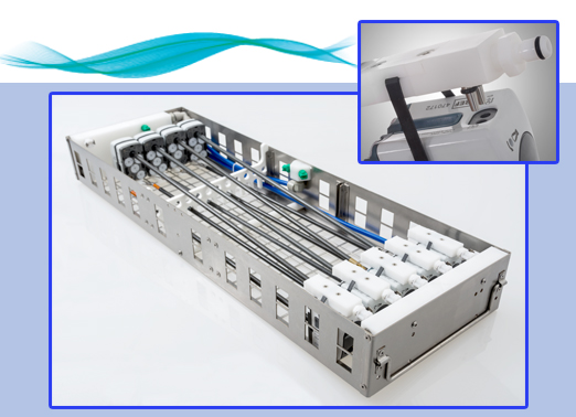 Optional da Vinci Xi tray with 10 dedicated ports.