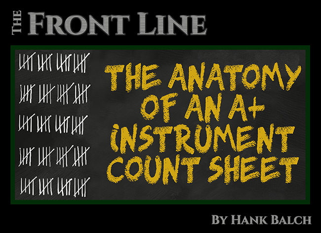 The Anatomy Of An A Instrument Count Sheet Ultra Clean